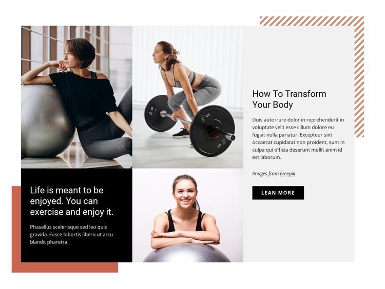 Start to attend the gym regularly Website Template
