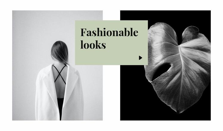 Fashionable looks Web Page Design