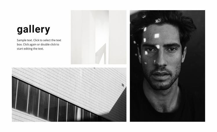New gallery Website Mockup