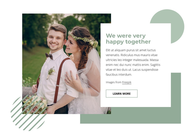 How to have a happy marriage HTML Template