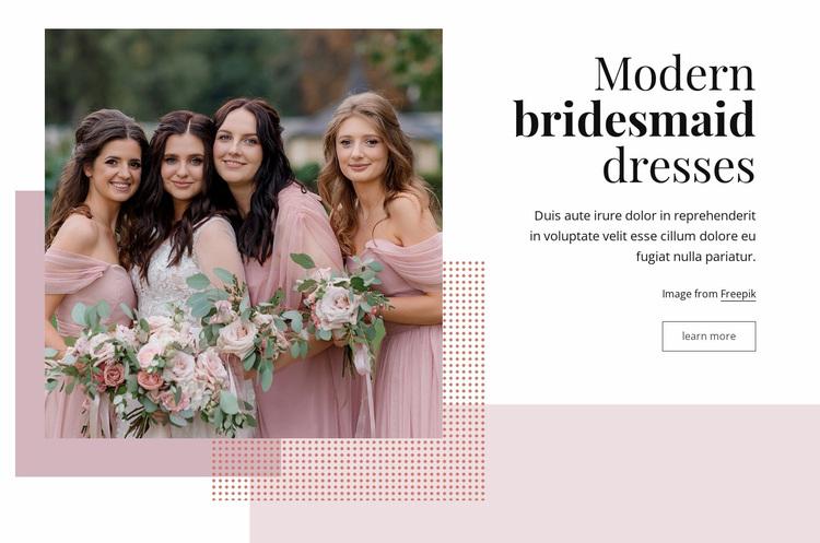 Modern bridesmaid dresses Website Design