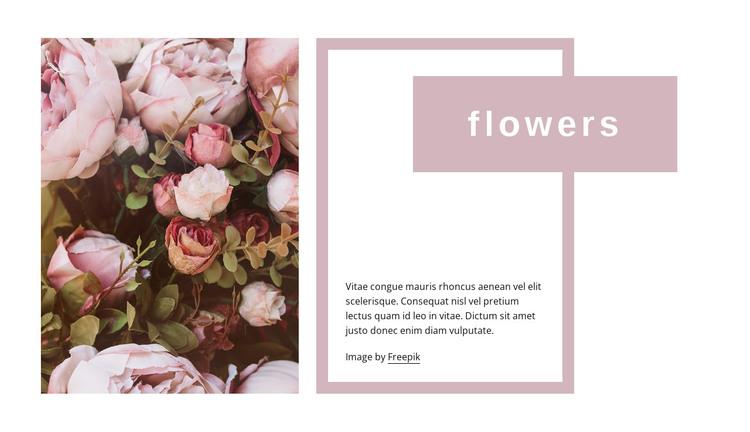 Wedding roses HTML Template