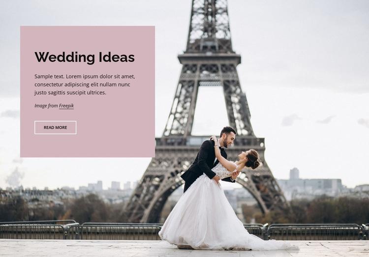 Wedding in Paris Web Page Design
