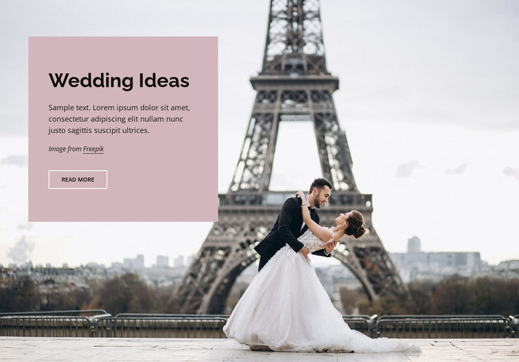 Wedding in Paris Website Builder Software
