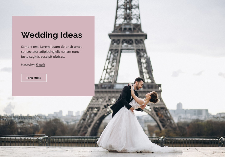 Wedding in Paris Landing Page
