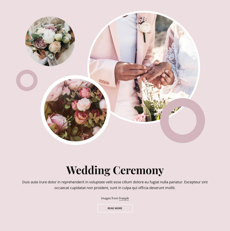 Romantic wedding ceremony HTML Template