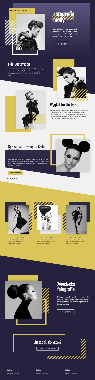 Nakładanie się fotografii mody Szablon Joomla