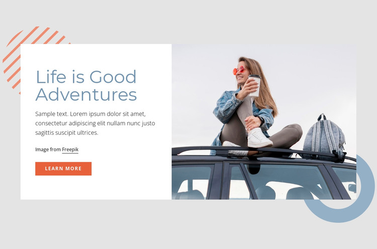 Life is good adventures HTML Template