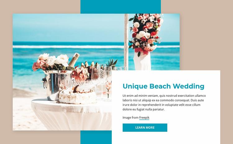 Beach wedding Html Website Builder