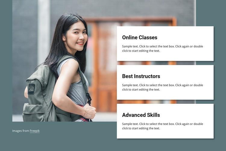 Online classes Web Page Designer
