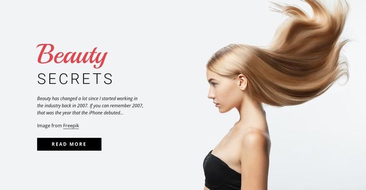 Beauty secrets Web Page Designer