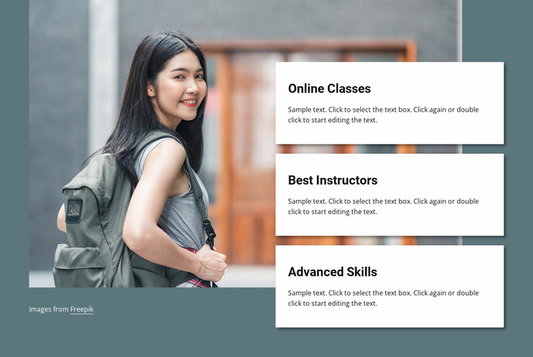Online classes Website Mockup