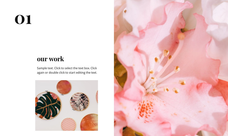 Pink color and floral elements HTML Template