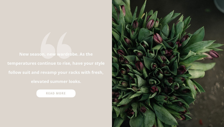 Dark burgundy tulips HTML Template