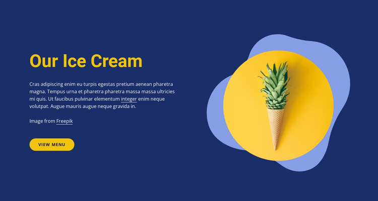 Our ice cream shop One Page Template