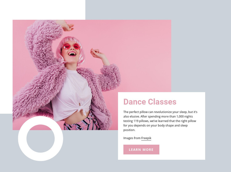 Dance classes HTML Template