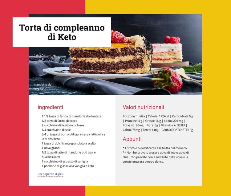 Torta di compleanno di Keto Modello di sito Web