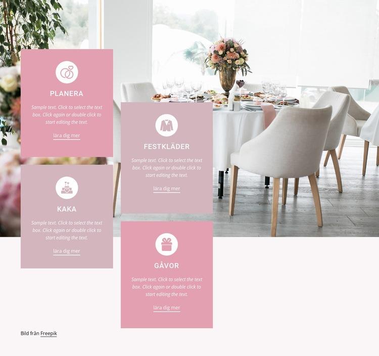 Skapa ditt unika bröllop Webbplats mall