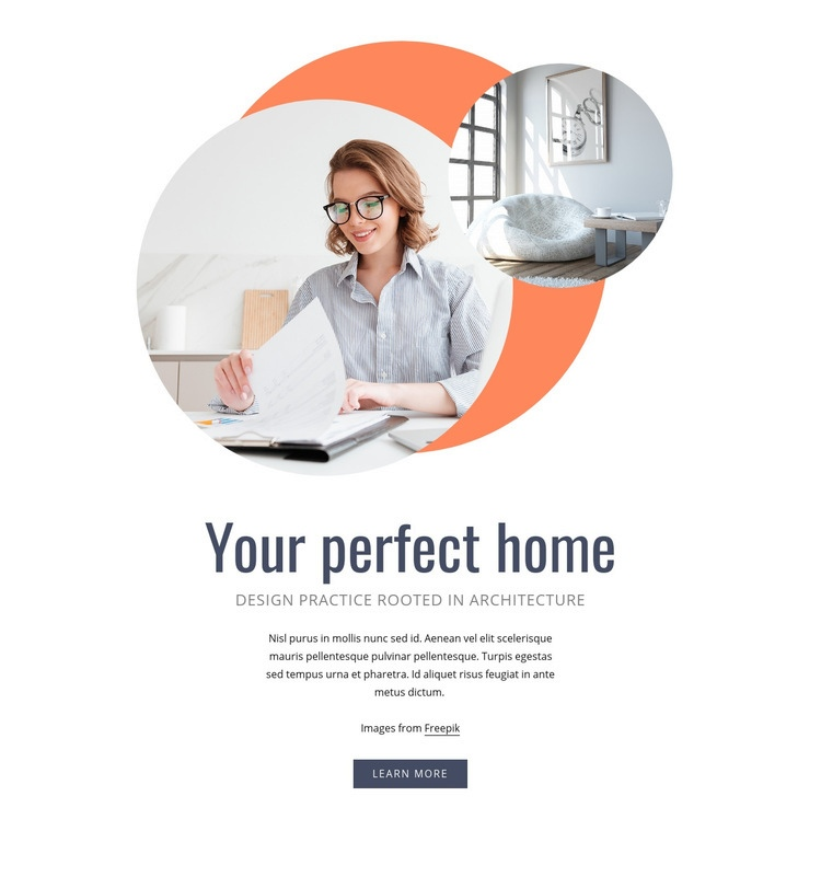 Your perfect home Homepage Design
