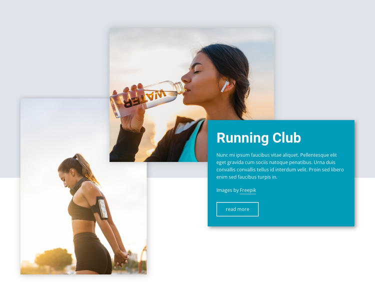 Cycling and running club HTML Template