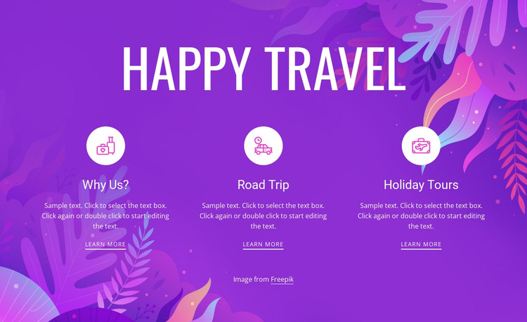 Happy travel Html Website Builder
