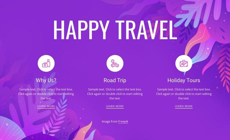 Happy travel Web Page Design