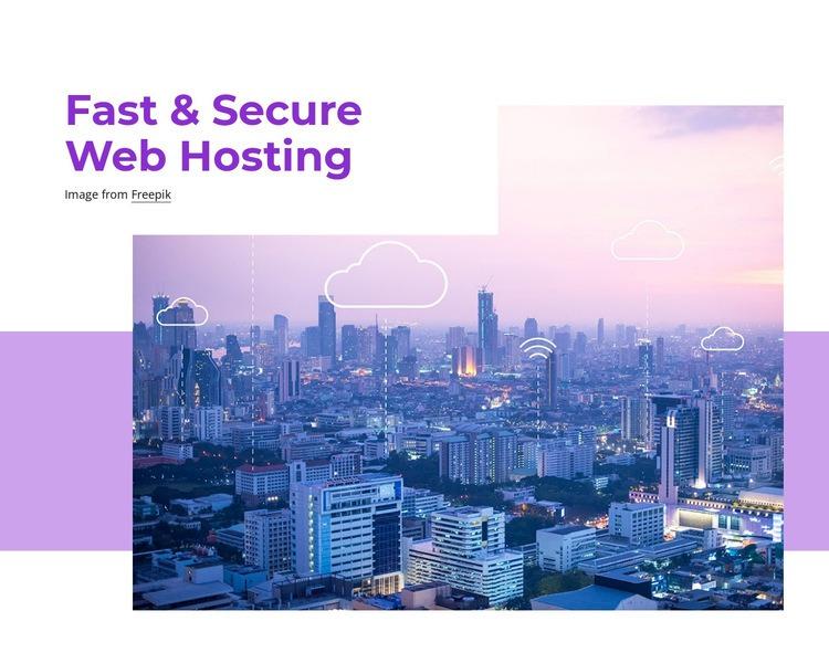 Fast web hosting Web Page Designer