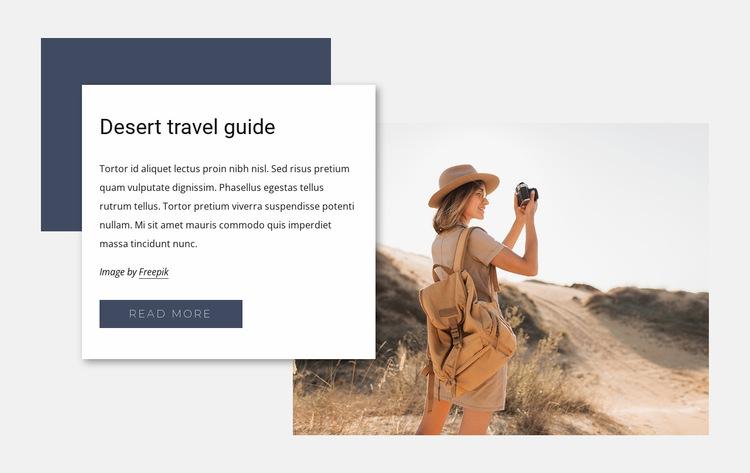 Desert travel guide Website Builder Templates