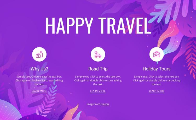 Happy travel Website Mockup