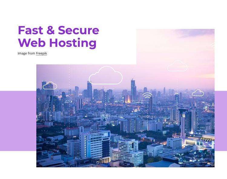 Fast web hosting Website Template
