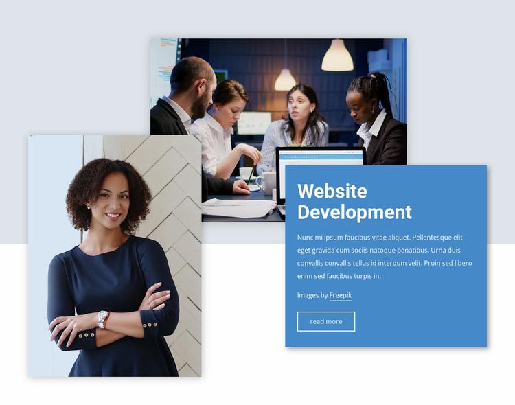 Website development Website Template
