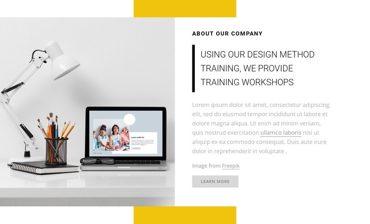We provide training workshops Homepage Design