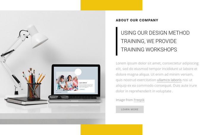 We provide training workshops Joomla Template