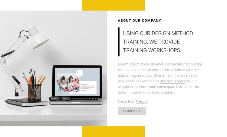 We provide training workshops One Page Template