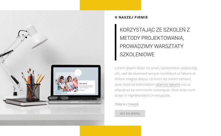 Prowadzimy warsztaty szkoleniowe Szablon witryny sieci Web