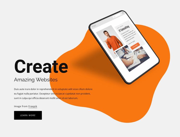 Create amazing websites Website Template