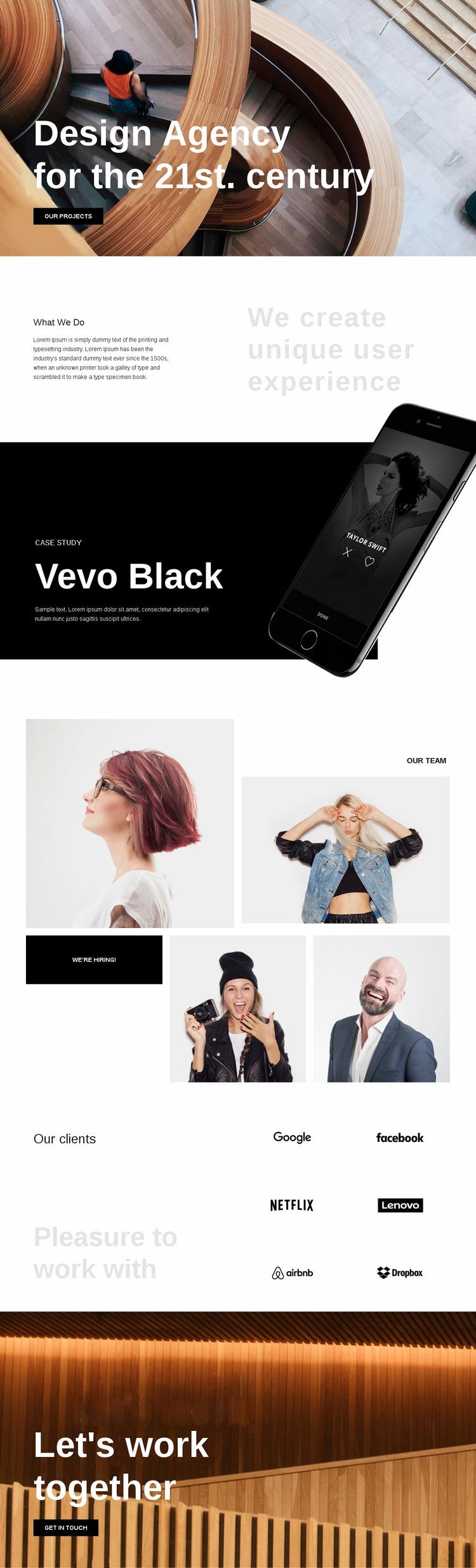 Design Agency Website Mockup