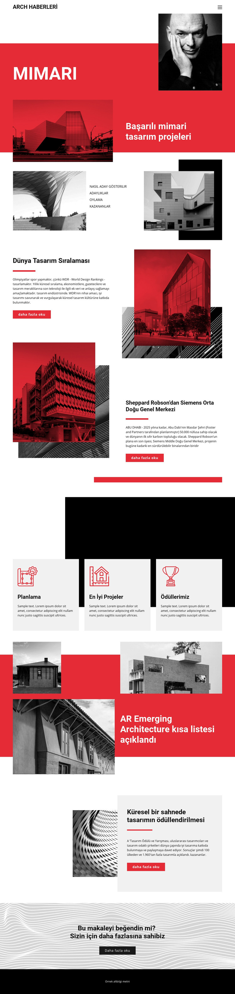 Mimaride tasarım Web Sitesi Şablonu