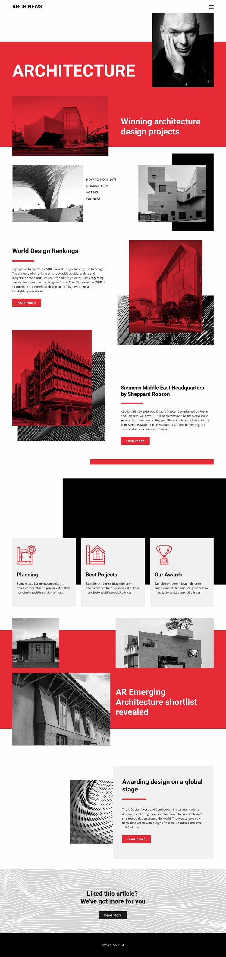 Design in architecture Web Page Designer