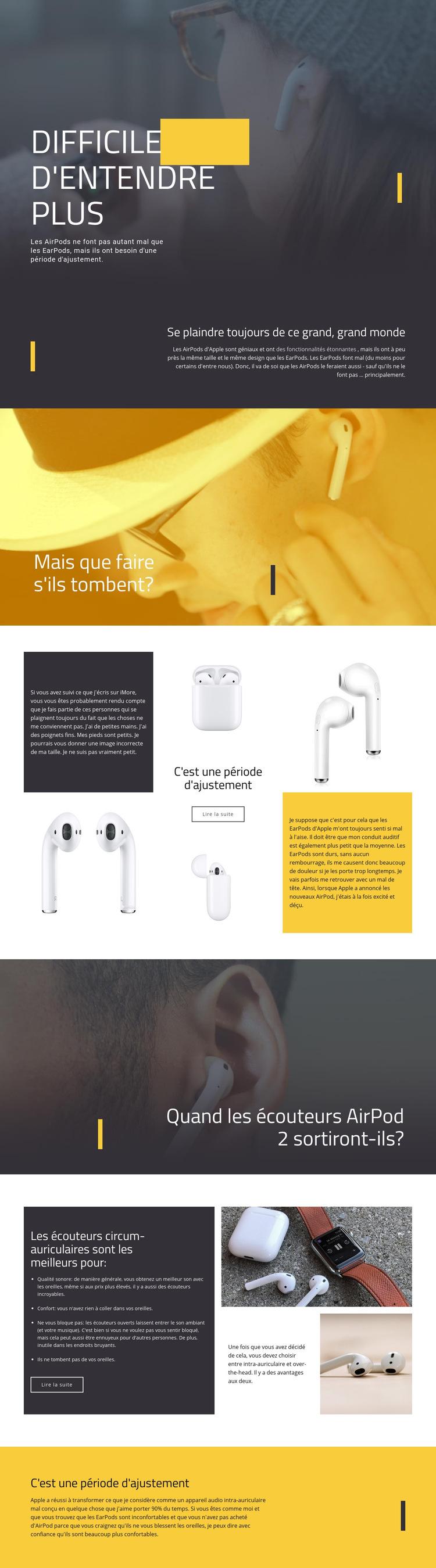 Meilleur casque Modèle de site Web
