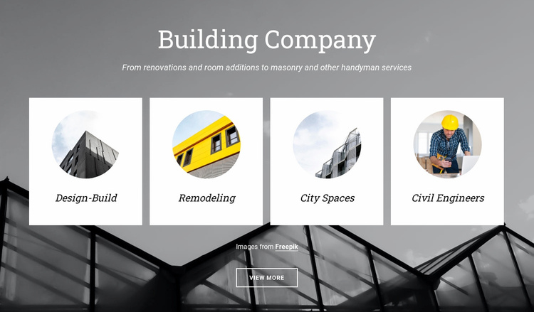 Planning city spaces Website Template