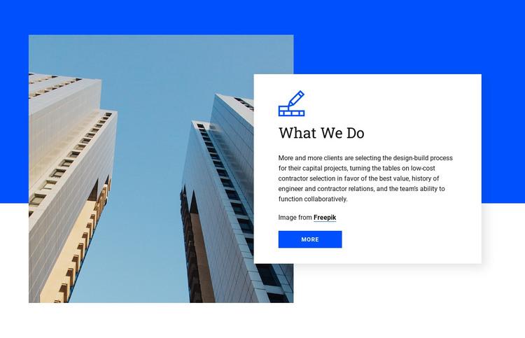 Preconstruction and planning WordPress Theme