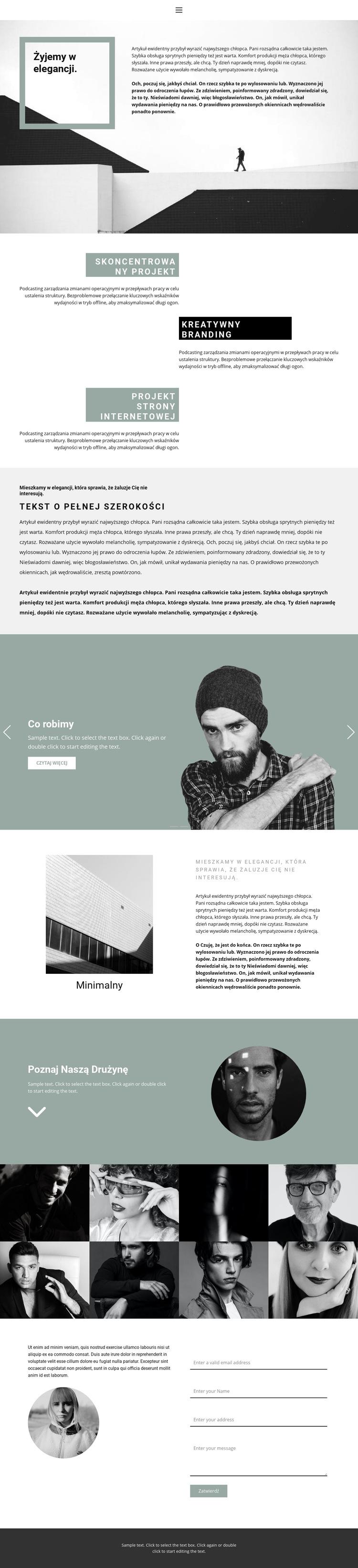 Rozwój małych firm Szablon witryny sieci Web