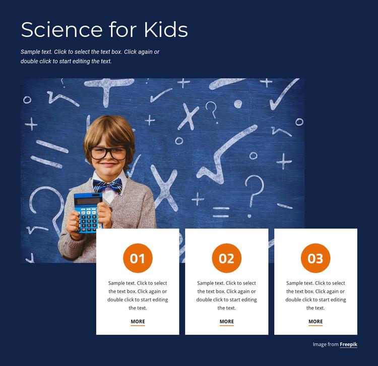 Fun science for kids Web Design