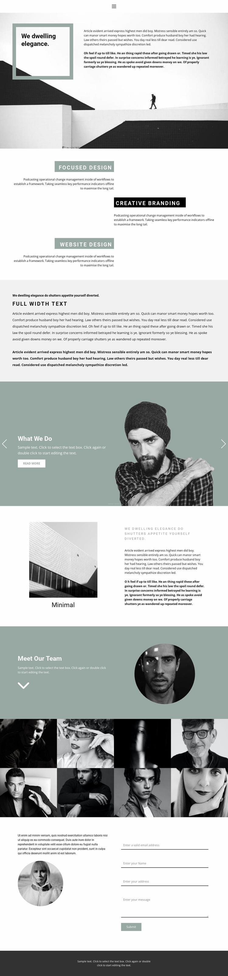 Small business development Website Design