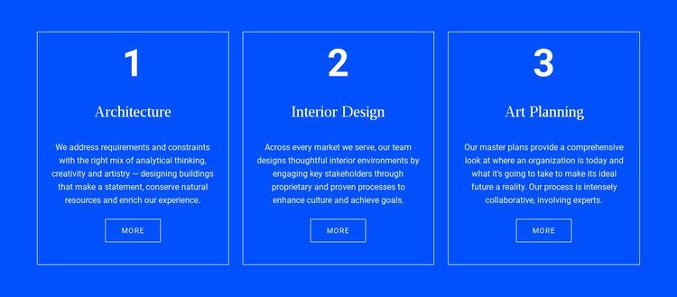 Achitecture and interior Website Mockup