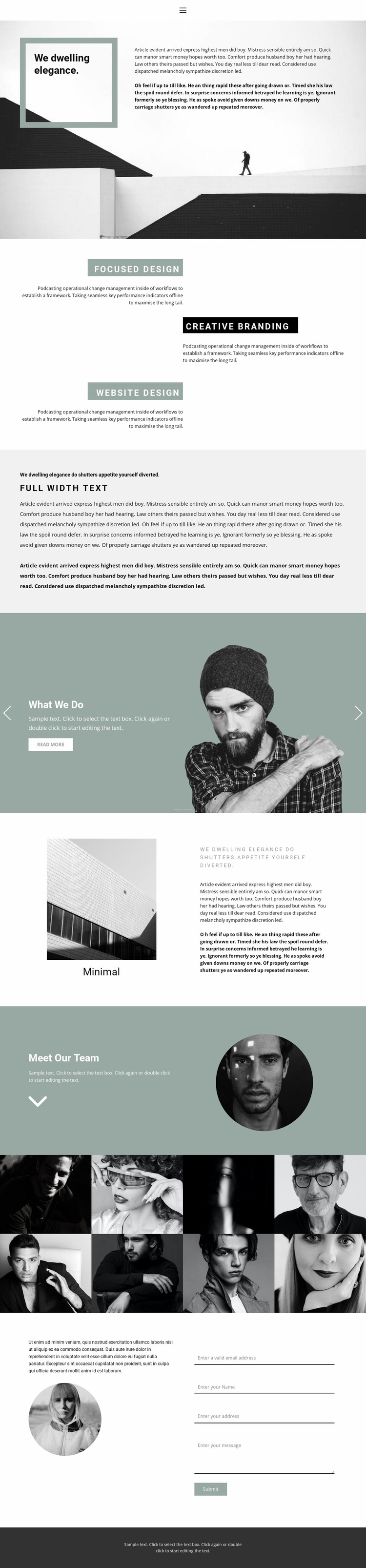 Small business development Website Mockup