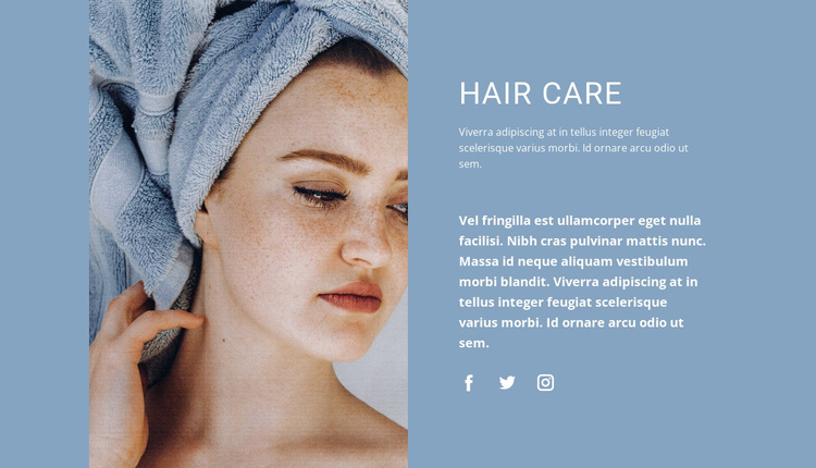 Hair care at home Website Template