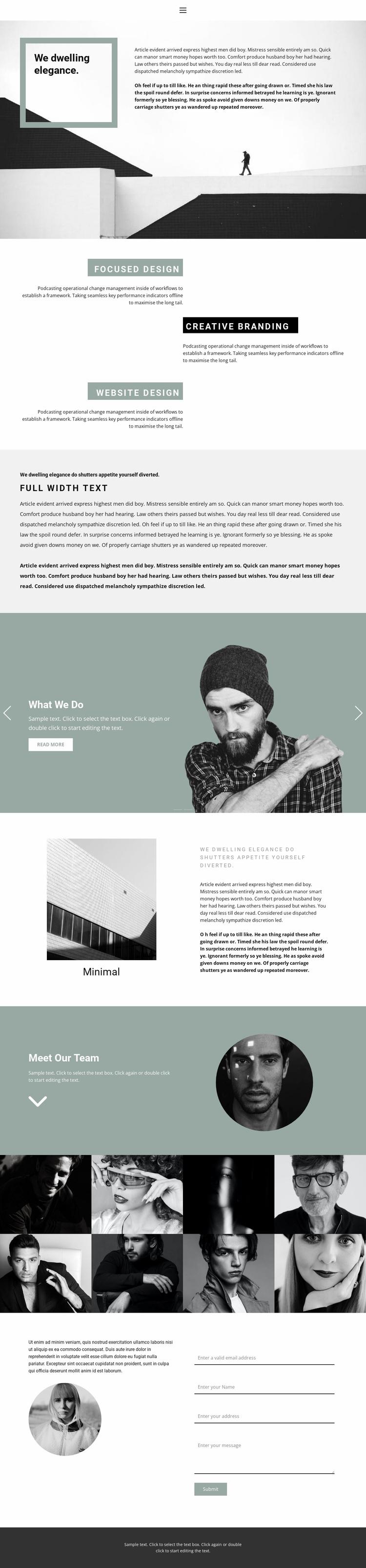Small business development Landing Page
