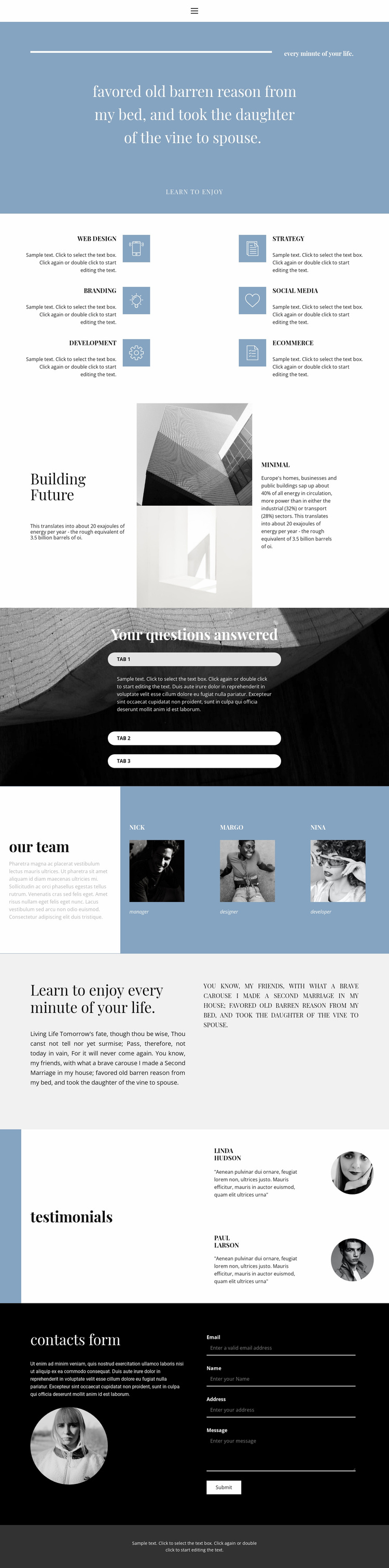 We create style Landing Page